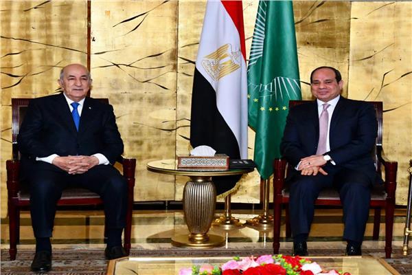 الرئيس السيسي ونظيره الجزائري يتبادلان التهاني بمناسبة عيد الفطر المبارك