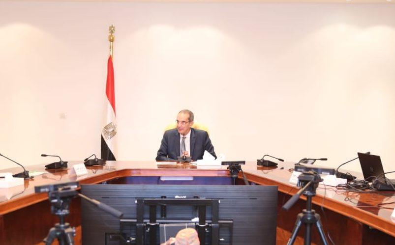 """وزير الاتصالات يبحث مع """"هواوي"""" إنشاء معمل إبداع تكنولوجي في قصر السلطان حسين"""