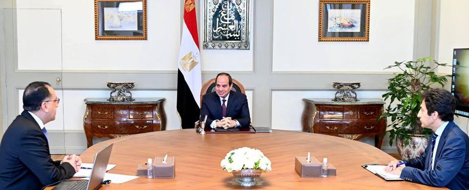 الرئيس السيسي يتابع مع مدبولي آخر المستجدات الخاصة بمكافحة انتشار فيروس كورونا