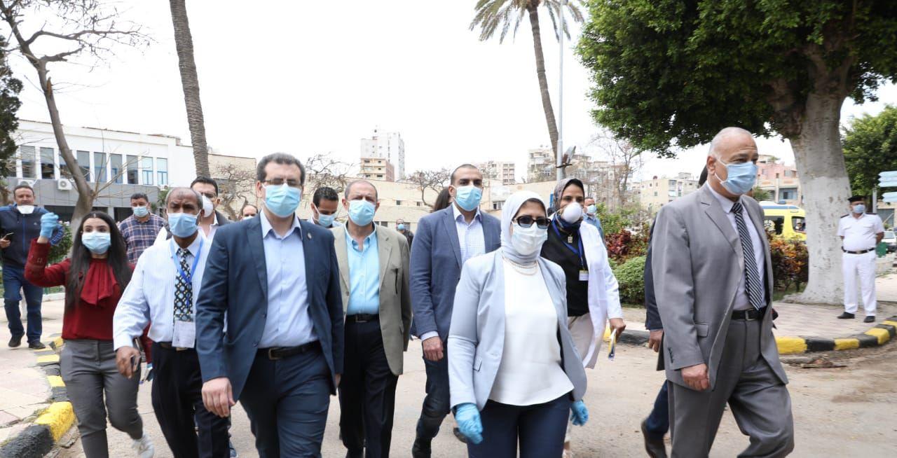 وزيرة الصحة توجه بسرعة انتهاء تطوير مبنيين فى مستشفى حميات الاسكندرية