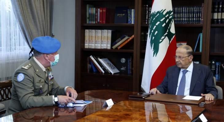الرئيس اللبنانى يطالب بوقف الانتهاكات الإسرائيلية المستمرة لسيادة بلاده