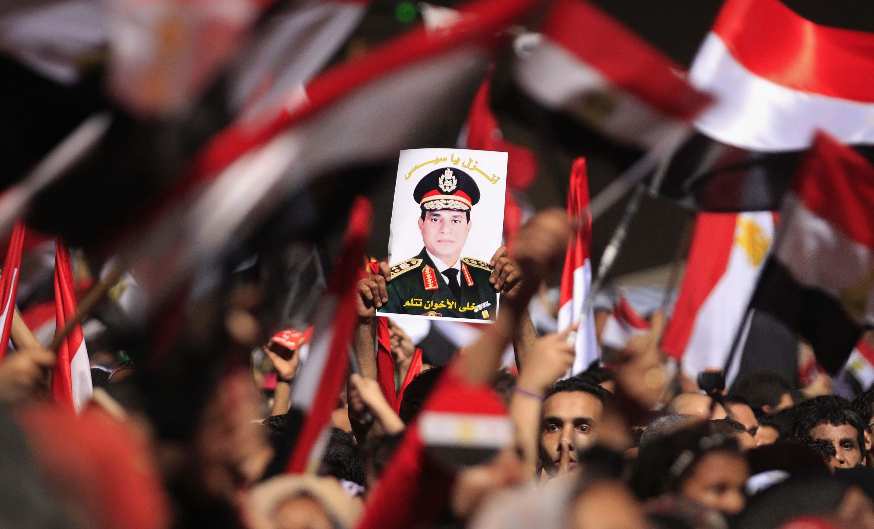 """حب وثقة وعهد ووفاء على بياض.. """"كلنا في ظهر الرئيس والجيش"""" تريند مصر"""