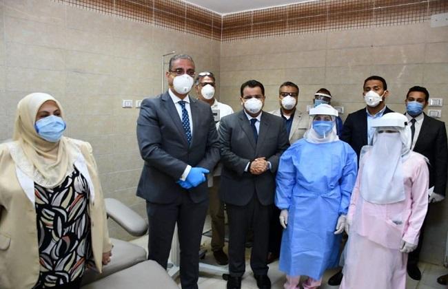 محافظ الفيوم يشهد تدشين أول جهاز لفصل بلازما المتعافين من كورونا