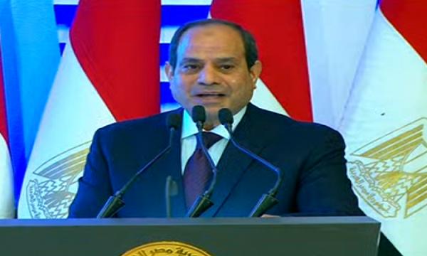 الرئيس السيسى: المصريون نجحوا فى ضرب البنية التحتية للجماعة الإرهابية