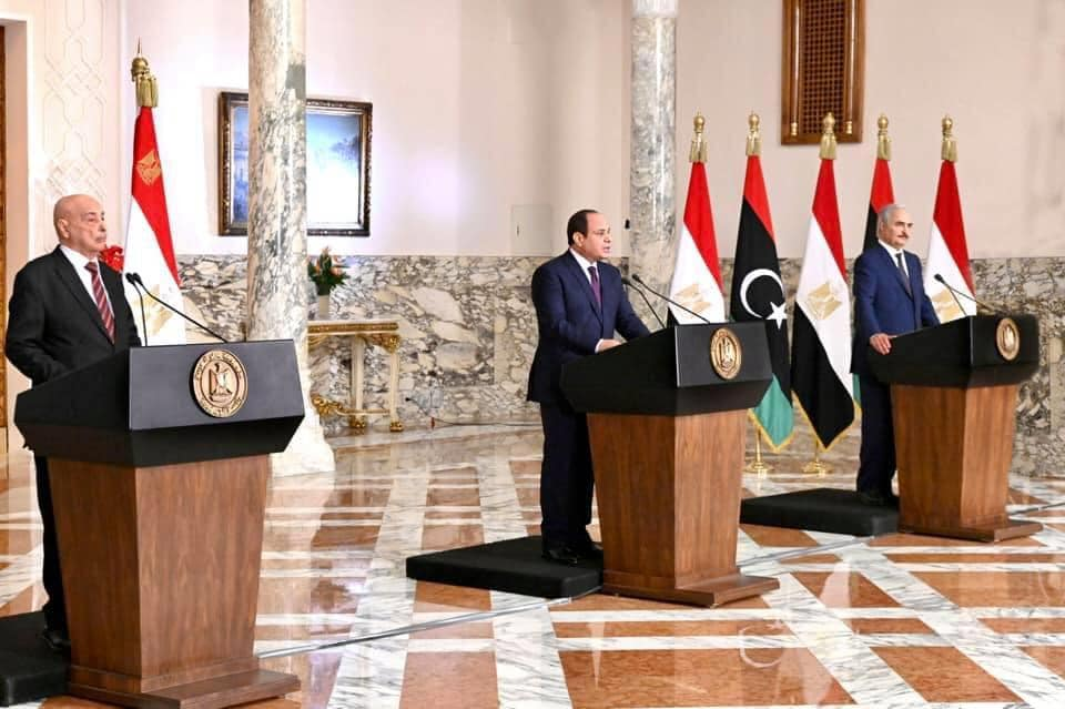 """""""إعلان القاهرة"""" خارطة طريق لوقف نزيف الحرب وإعلاء المصلحة الوطنية فى ليبيا"""