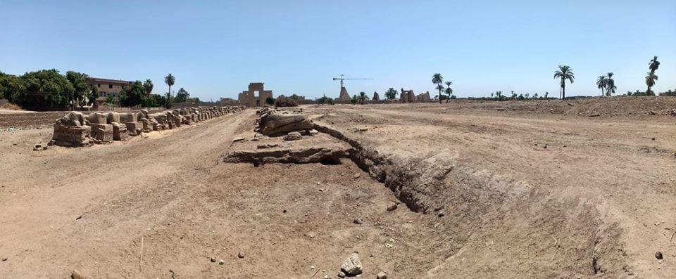 صور | الكشف عن أفران وسور ضخم يرجع إلى العصر الروماني والمتأخر في الأقصر
