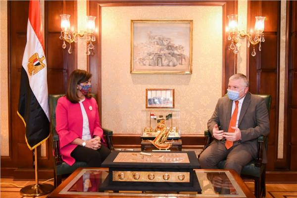 وزيرة الهجرة تستقبل السفير الأرميني لبحث سبل التعاون المشترك