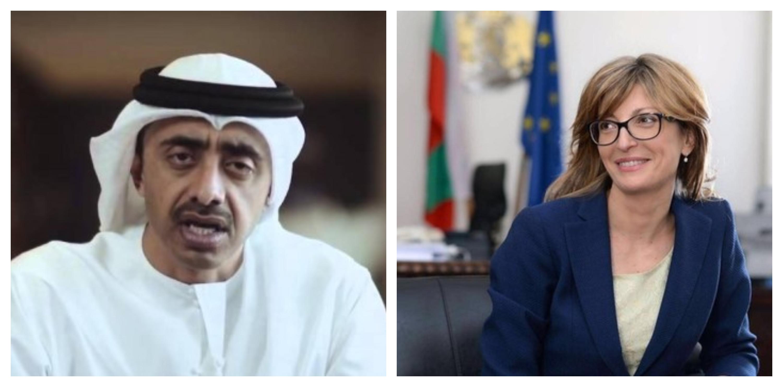 وزير الخارجية الإماراتي ونظيرته البلغارية يبحثان سبل تعزيز التعاون