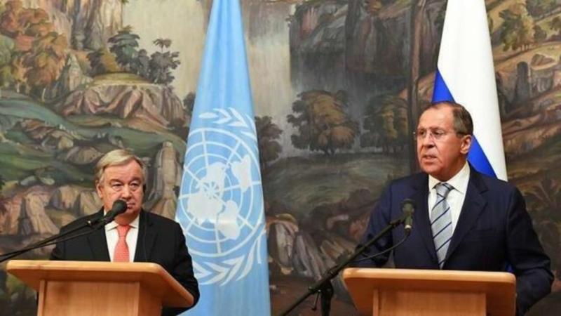لافروف وجوتيريش يؤكدان خطر نشاط الإرهابيين فى سوريا