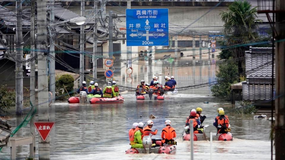 اليابان ترفع مستوى تحذير الطوارئ لأعلى درجة بسبب هطول الأمطار