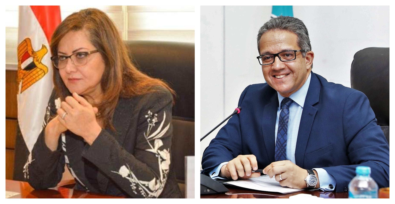 وزيرا التخطيط والاثار يبحثان مع مستشار عالمي التطوير الأمثل لمجال السياحة