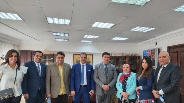 حسين زين يلتقي القائم بأعمال رئيس نقابة الإعلاميين