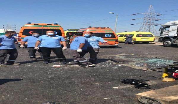 مصرع وإصابة 13 شخصا إثر حادث على الطريق الدولي بالإسكندرية