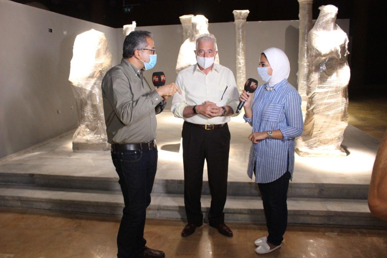 صور | وزير الآثار ومحافظ جنوب سيناء يتفقدان متحف شرم الشيخ الأثري