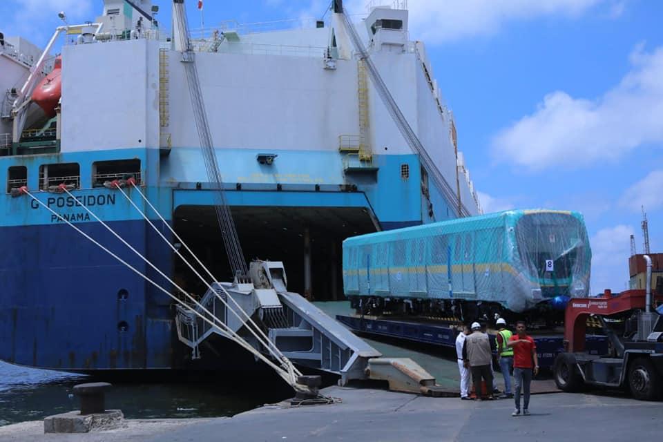 وصول ثاني قطارات صفقة توريد 32 قطار مكيفا جديداً للعمل بالخط الثالث للمترو ميناء الإسكندرية