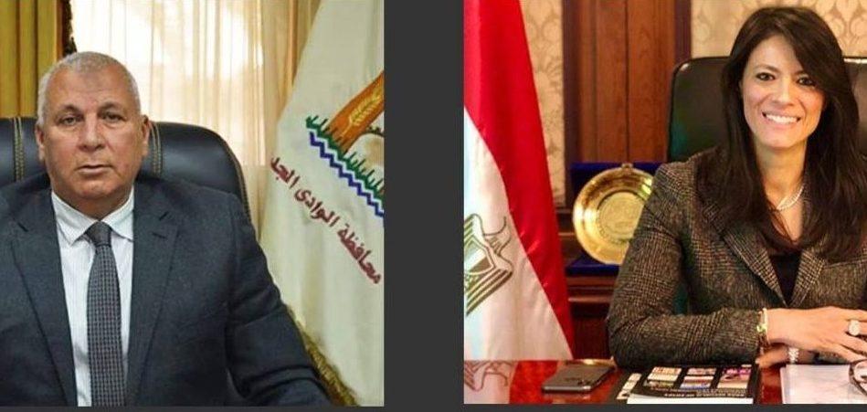 وزيرة التعاون الدولى تبحث دعم المشروعات التنموية بمحافظة الوادى الجديد