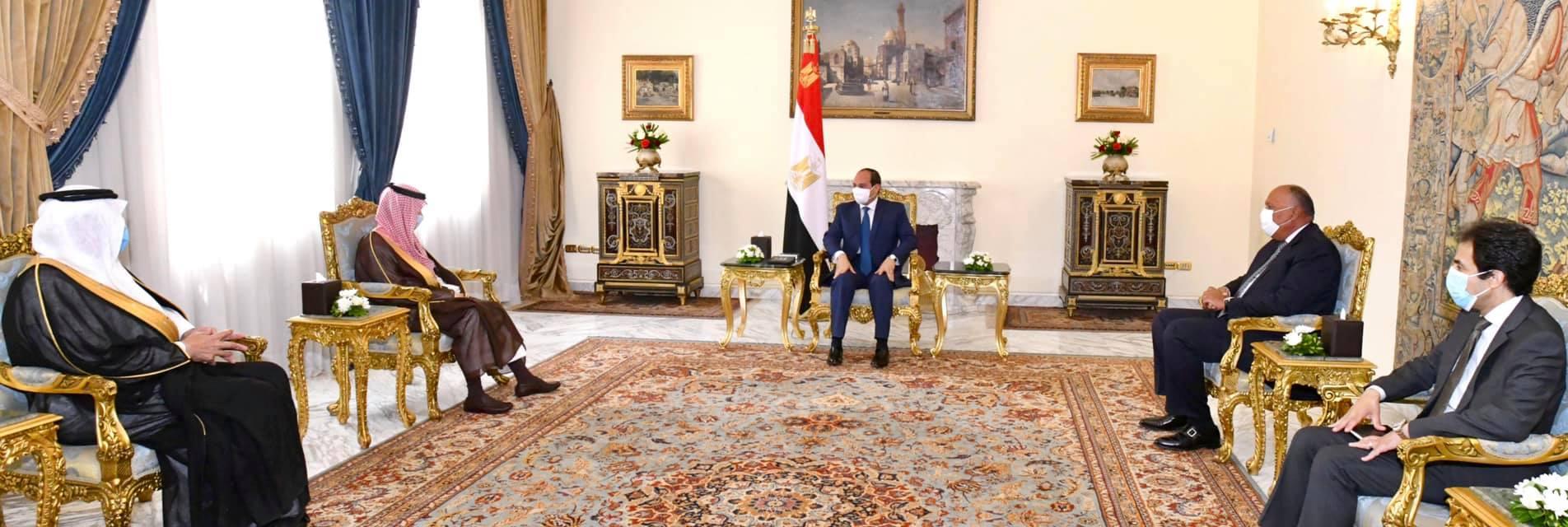 الرئيس السيسي يلتقى وزير الخارجية السعودي ويؤكد ضرورة وحدة الصف العربى