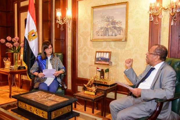 صور   وزيرة الهجرة تستقبل وزير المغتربين اليمني لبحث التعاون في ملف المهاجرين