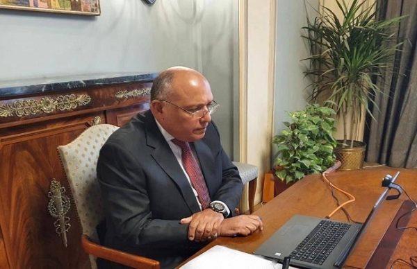 وزير الخارجية يشارك في المؤتمر الوزاري حول «سد الفجوات الرقمية..الاستجابة الرقمية لجائحة كورونا»