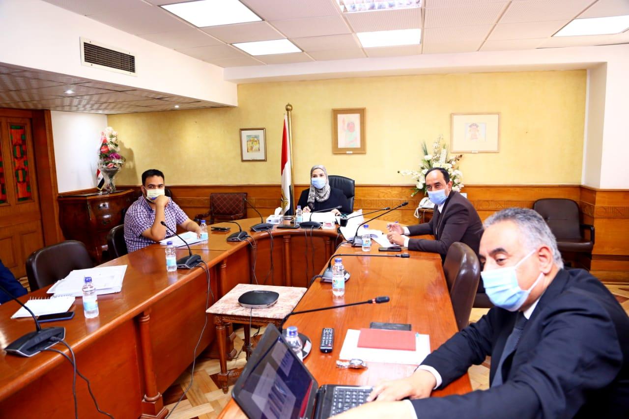 وزير التضامن الاجتماعي تتابع تنفيذ مشروع تطوير منطقة روضة السيدة