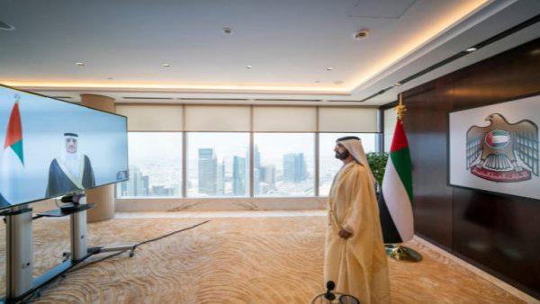 عبر الفيديو كونفرانس.. الحكومة الإماراتية الجديدة تؤدي اليمين الدستورية