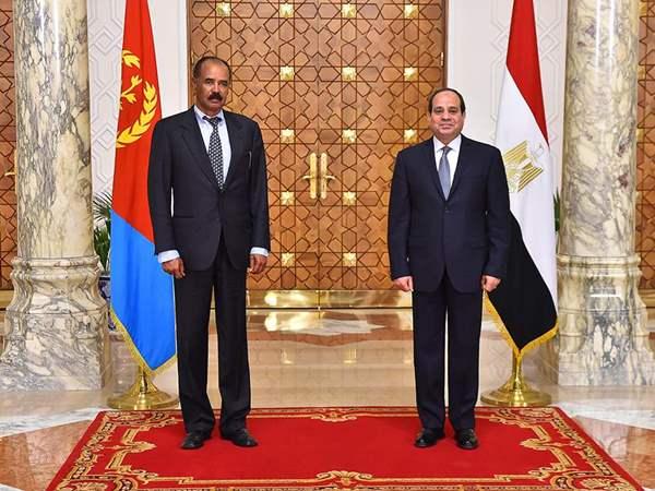 الرئيس السيسي ونظيره الإريترى يبحثان ملفات القرن الأفريقى وقضية سد النهضة