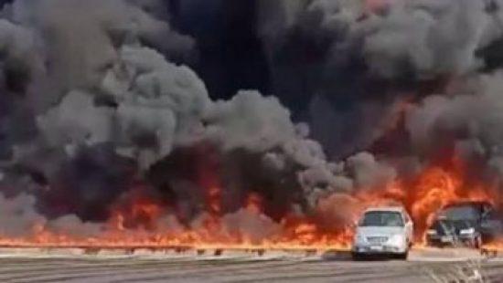إغلاق الطرق المؤدية لطريق الإسماعيلية الصحراوى