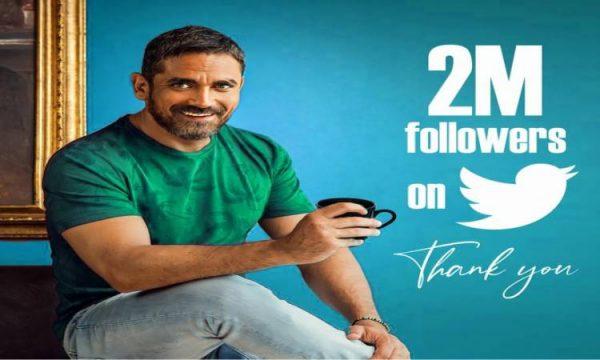 أمير كرارة يحتفل بـ 2 مليون متابع عبر تويتر