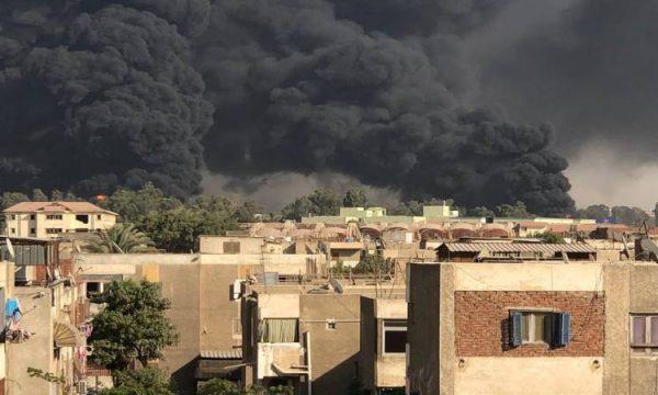 البترول: السيطرة على حريق خط المازوت بطريق الإسماعيلية الصحراوى