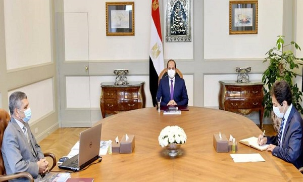 الرئيس السيسي يوجه باستمرار تطوير المجرى الملاحي لقناة السويس