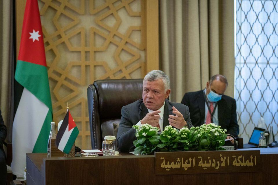 العاهل الأردنى يشدد على الوقوف بجانب العراق فى تعزيز أمنه واستقراره