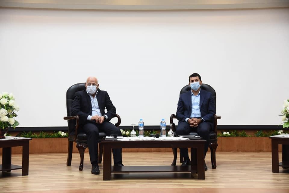 صور | وزير الشباب ومحافظ بورسعيد فى لقاء حوارى مفتوح مع شباب المحافظة