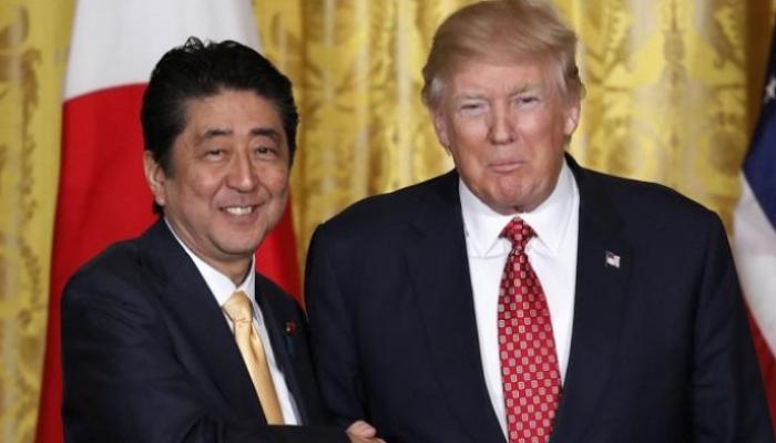 شينزو آبي يشكر ترامب على دوره في تعزيز العلاقات اليابانية – الأمريكية