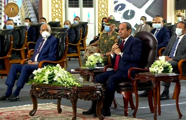 الرئيس السيسي: الدين الخارجي تحت السيطرة ونسعىلتحسين حياة المواطنين