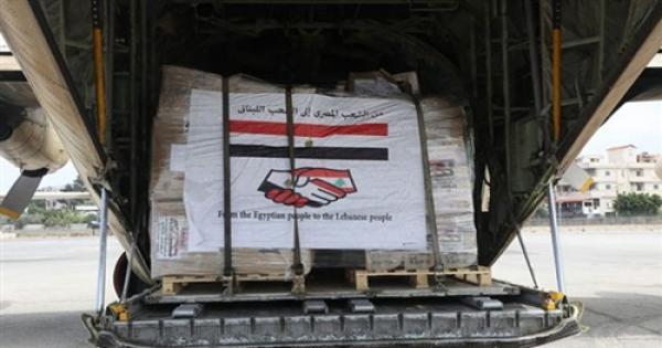 أولى سفن الجسر البحري المصري إلى لبنان تصل اليوم إلى بيروت