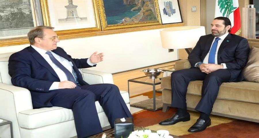 بوجدانوف والحريرى يبحثان الوضع الراهن فى لبنان عقب انفجار بيروت