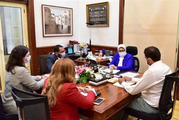 صور | وزيرة الصحة تعقد اجتماعا لمتابعة سير العمل بمبادرة الرئيس لدعم صحة المرأة