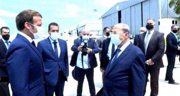 الرئيس الفرنسي يتوجه إلى موقع انفجار مرفأ بيروت فور وصوله إلى لبنان