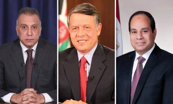 عاهل الأردن وولى العهد يودعان الرئيس السيسى بمطار الملكة علياء