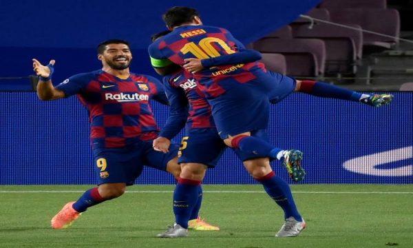 بـ3 أهداف.. برشلونة يتقدمون على نابولى في الشوط الأول