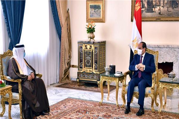 صور| السيسي يستقبل وزير خارجية البحرين