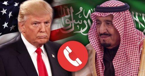الملك سلمان يبحث مع ترامب سبل العيش لتخفيف آثار جائحة كورونا