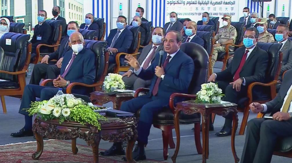 """الرئيس السيسي: إطلاق اسم """"شينزو آبى"""" على المرحلة الثالثة من الجامعات المصرية اليابانية"""