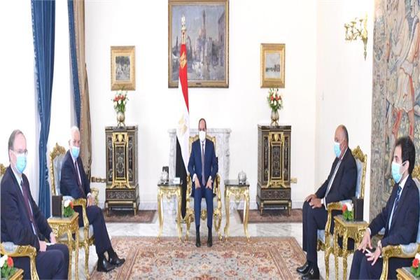 الرئيس السيسي يؤكد تمسك مصر بحقوقها المائية وباتفاق متوازن لملئ سد النهضة الإثيوبي