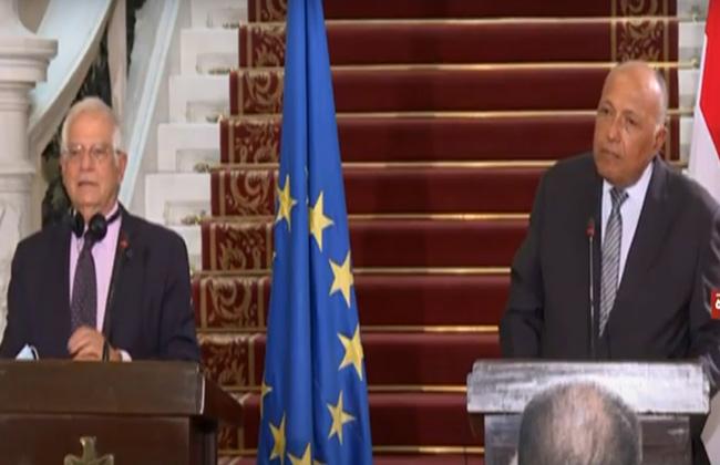 شكري: الأوضاع في ليبيا محل اهتمام من جانب مصر والاتحاد الأوروبي