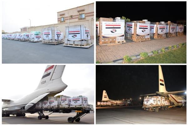 مصر تتستمر في إرسال المساعدات العاجلة لمتضرري السيول بالسودان والجنوب