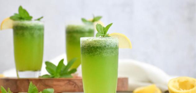 طريقة عمل مشروب الليمون بالنعناع