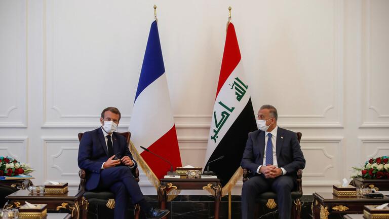 ماكرون: فرنسا تساند جهود «الكاظمي» لتعزيز السيادة العراقية