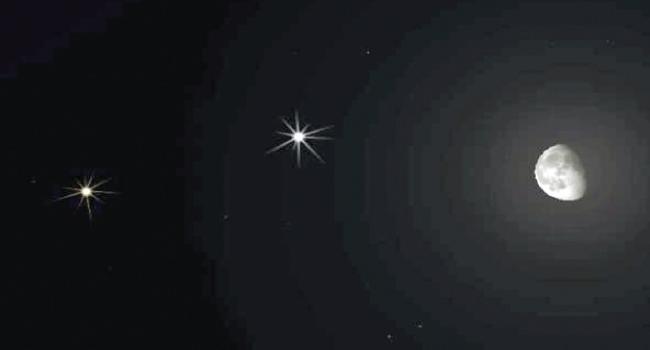 الليلة.. القمر والمشترى وزحل يرسمون مثلثا يزين سماء الوطن العربى
