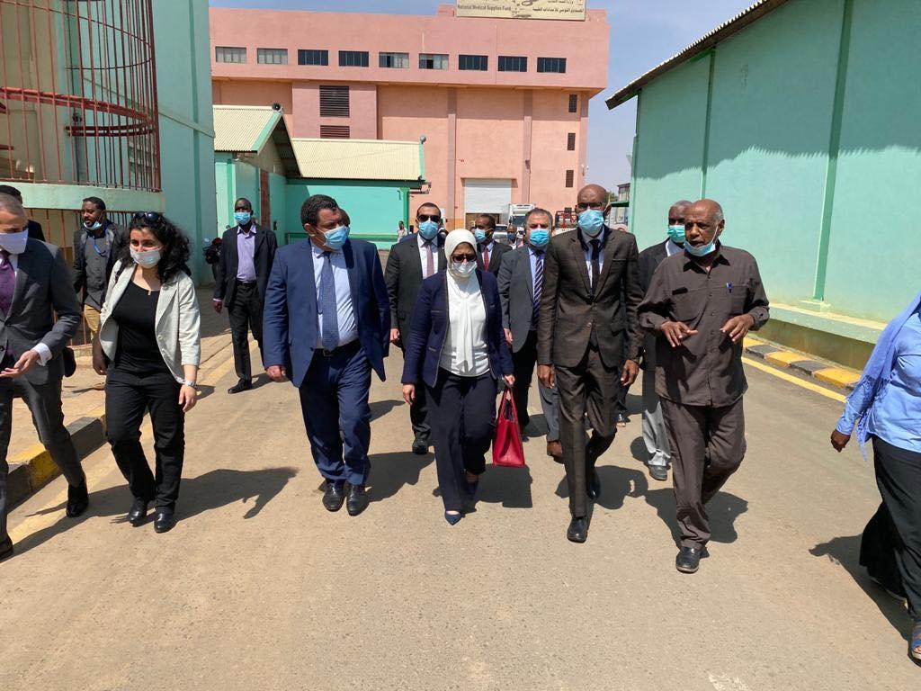 وزيرة الصحة تدعو لإقامة شراكة مؤسسية مع الجانب السودانى